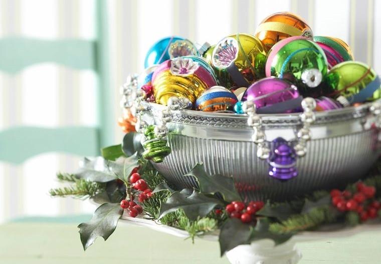 decoración original bolas coloridas