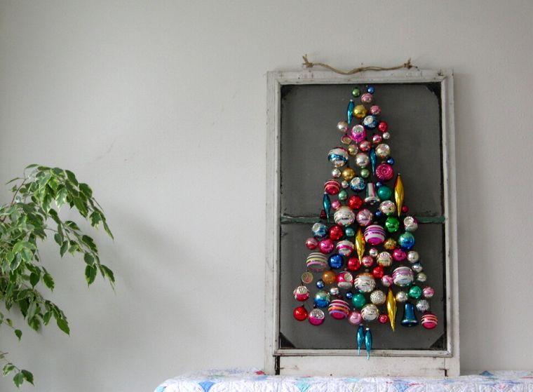decoración original bolas en cuadro