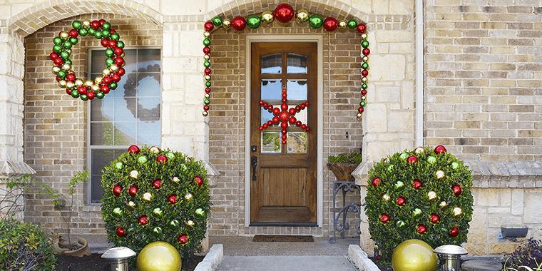 decoración original bolas navideñas exterior