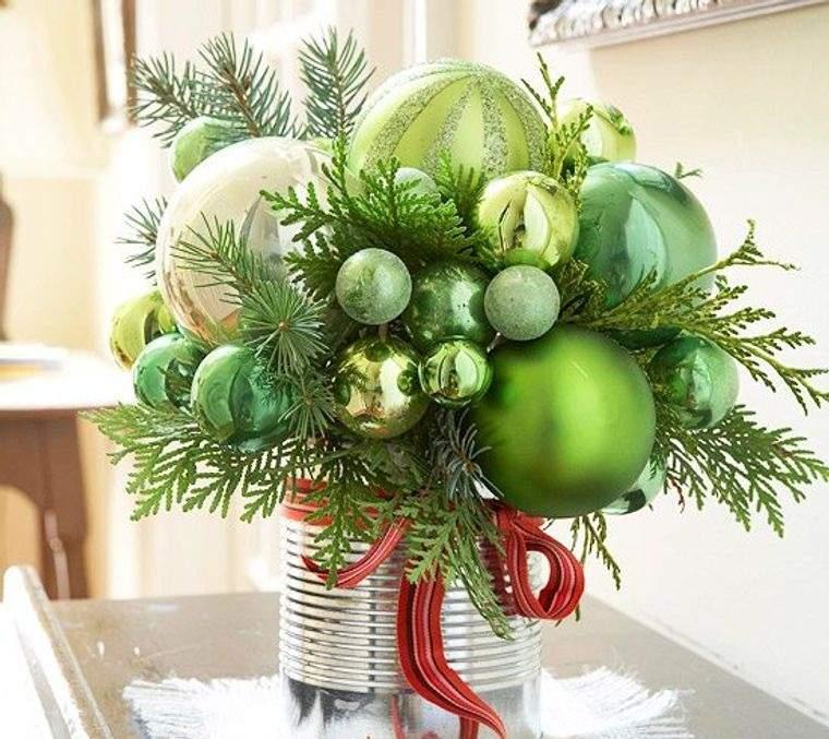 decoración original bolas navideñas verdes