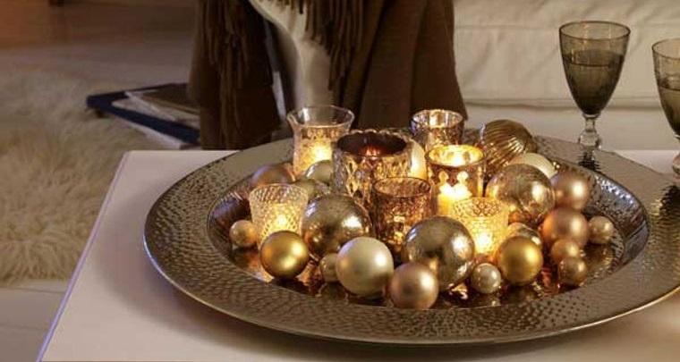 decoración original bolas velas navidad