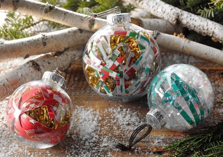 decoración original de bolas navideñas