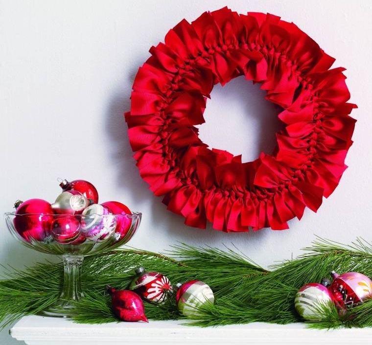 decoración original en rojo