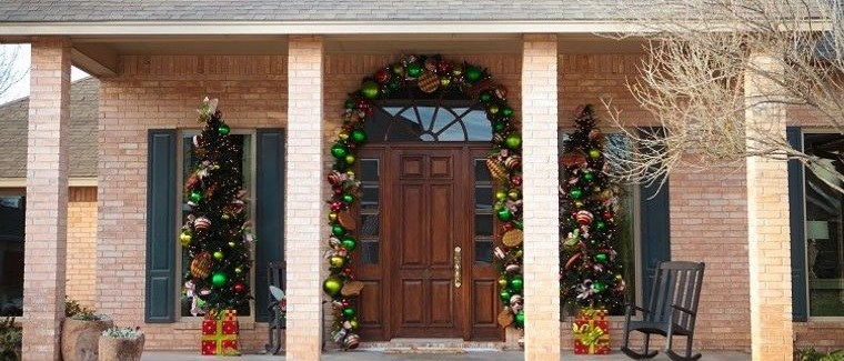 decoración original entrada rustica