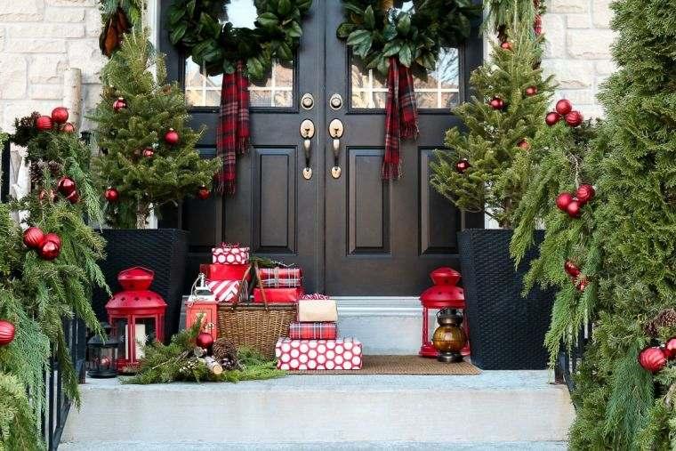 decoración original exterior navidad