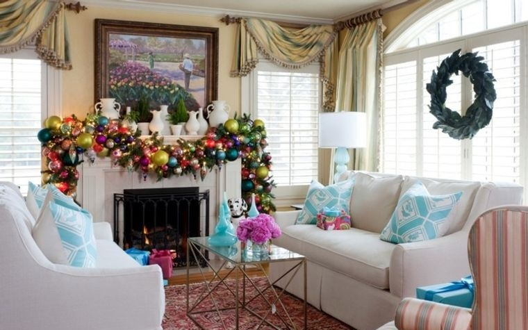 decoración original gran guirnalda colas navidad