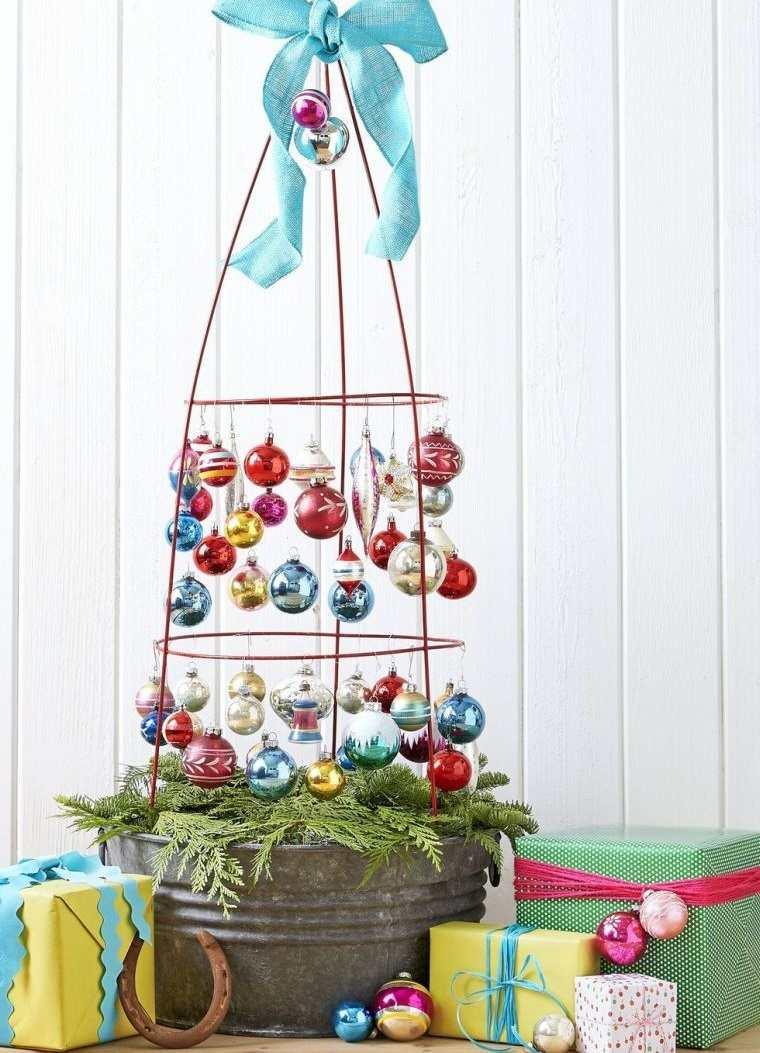 decoración original jaula navideña