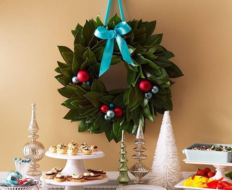 decoración original mesa navideña