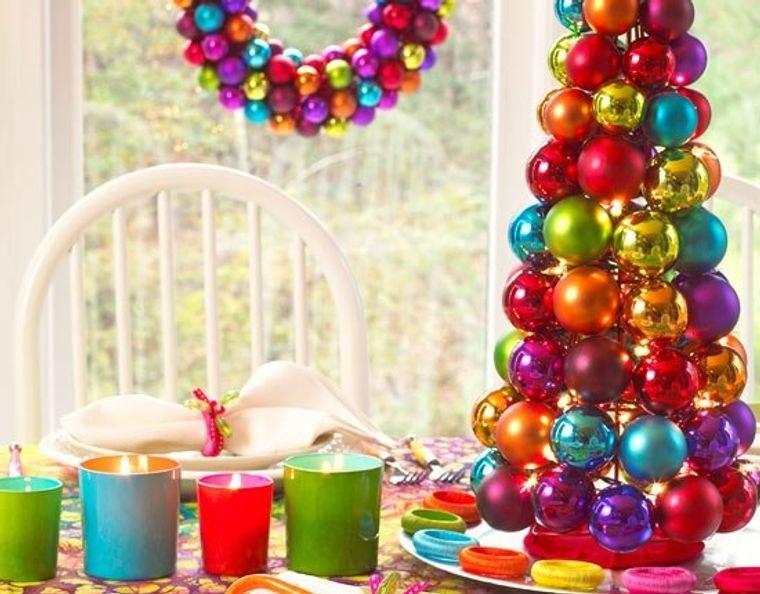 decoración original navidad colorida