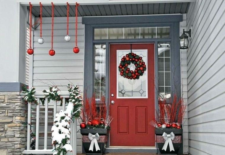 decoración original porche navidad