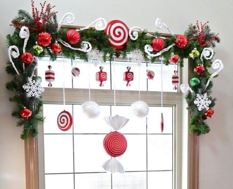 decoración original ventana navideña