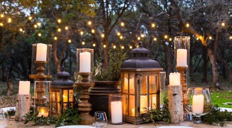 decoración rústica accesorios iluminacion