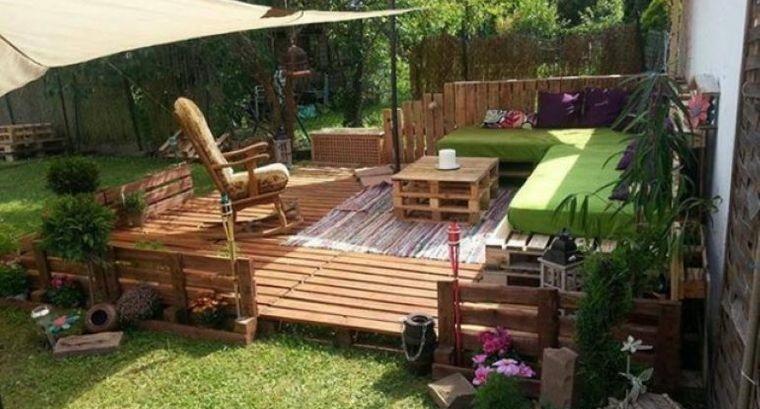 decoración rústica patio acogedor