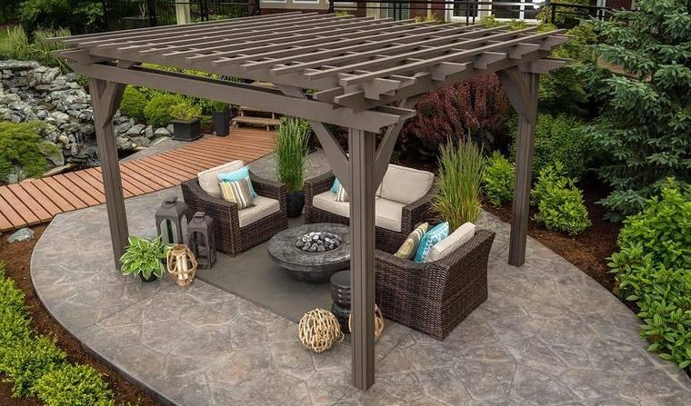 decoración rústica patio funcional