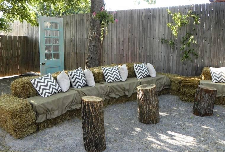 decoración rústica patio muebles originales