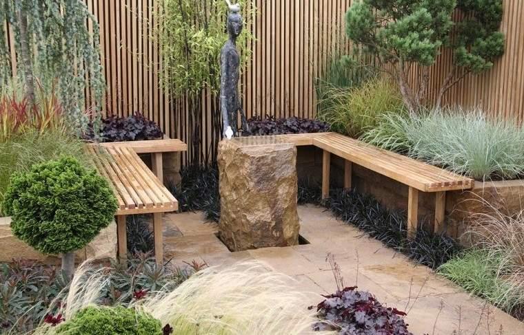 decoración rústica patio pequeño ideas