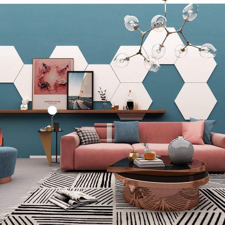 decorcaión moderna forma hexagonal