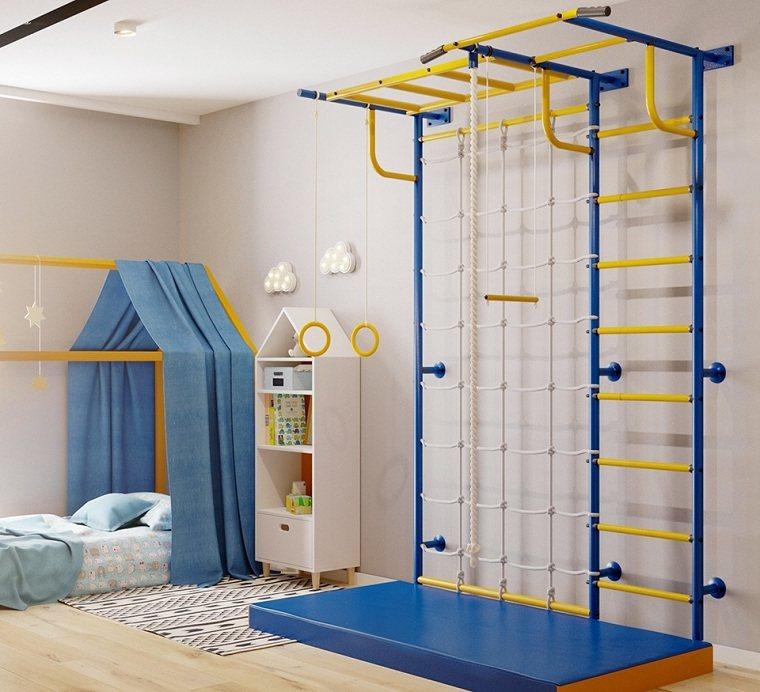 deporte en casa para niños-color-azul