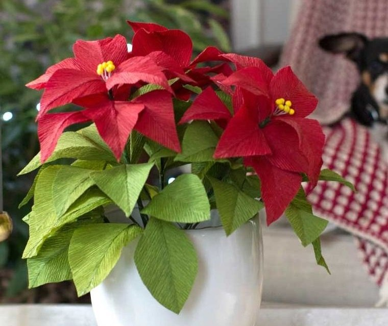 detalles navideños bricolaje flores pascua