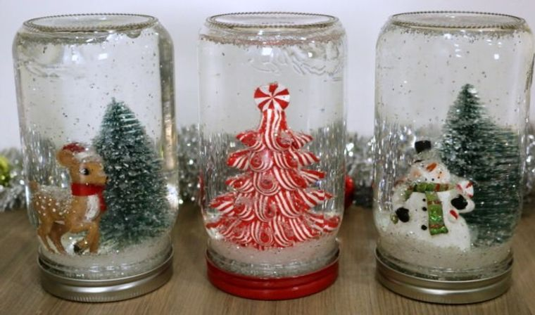 detalles navideños bricolaje globos nieve1