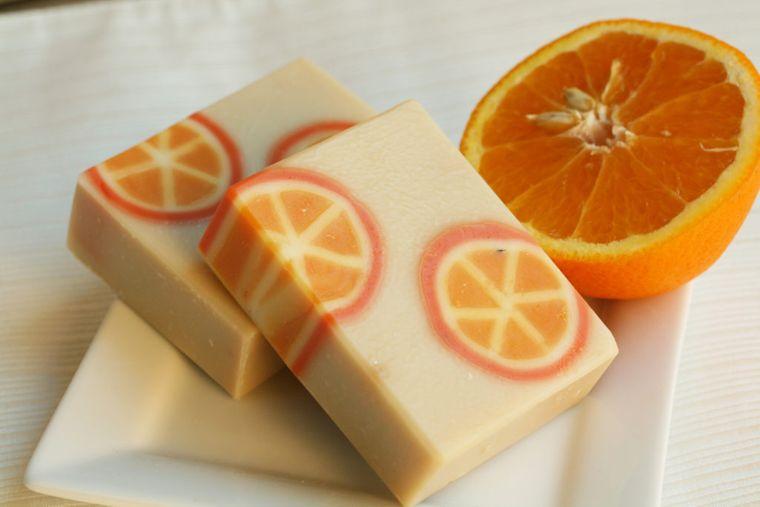 detalles navideños bricolaje jabones naranja