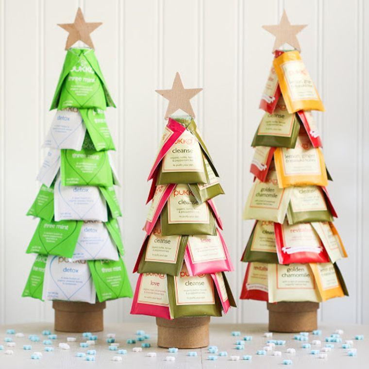 detalles navideños bricolaje mini arbol te