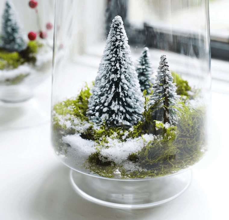 detalles navideños bricolaje terrario invierno