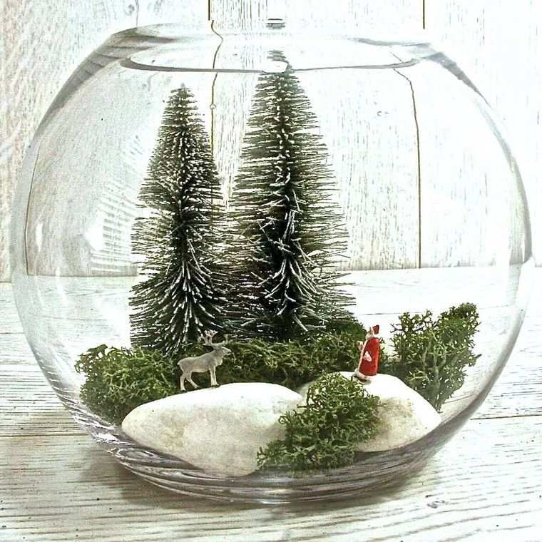 detalles navideños bricolaje terrario