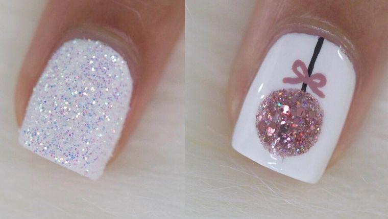 diseños de uñas navideñas adornos