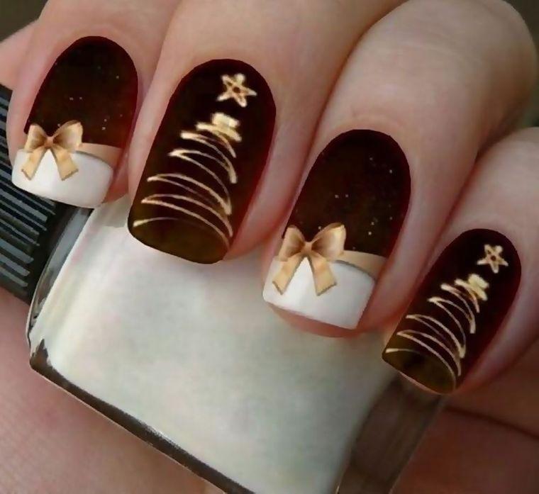 diseños de uñas navideñas con arte
