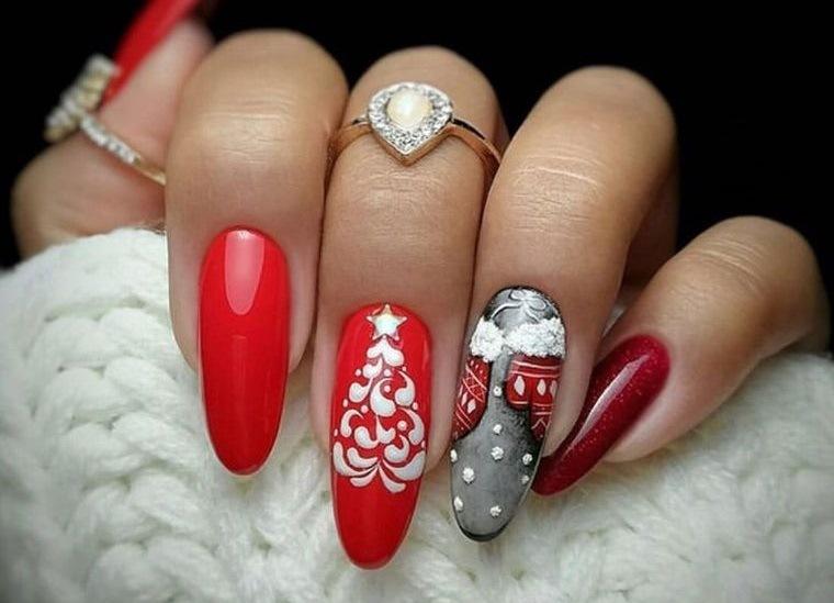 diseños de uñas navideñas con creatividad