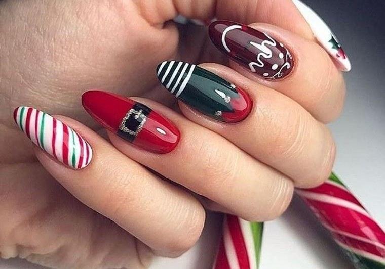 diseños de uñas navideñas con motivos