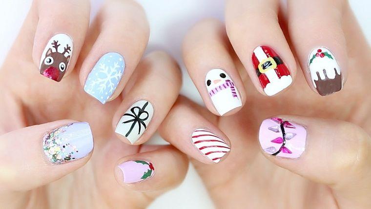 diseños de uñas navideñas ideas festivas