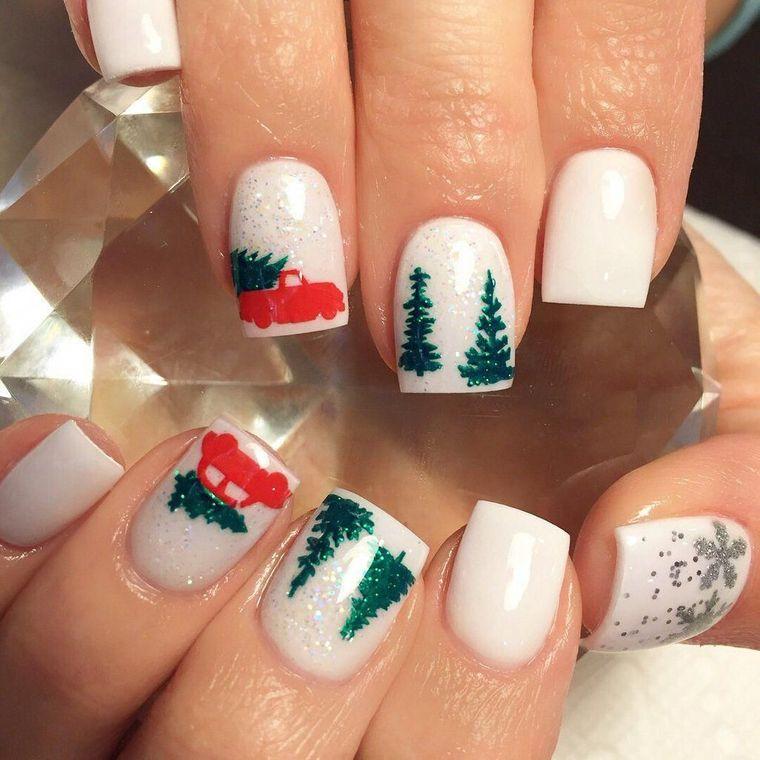 diseños de uñas navideñas paisaje