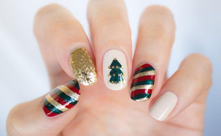diseños de uñas navideñas varios motivos