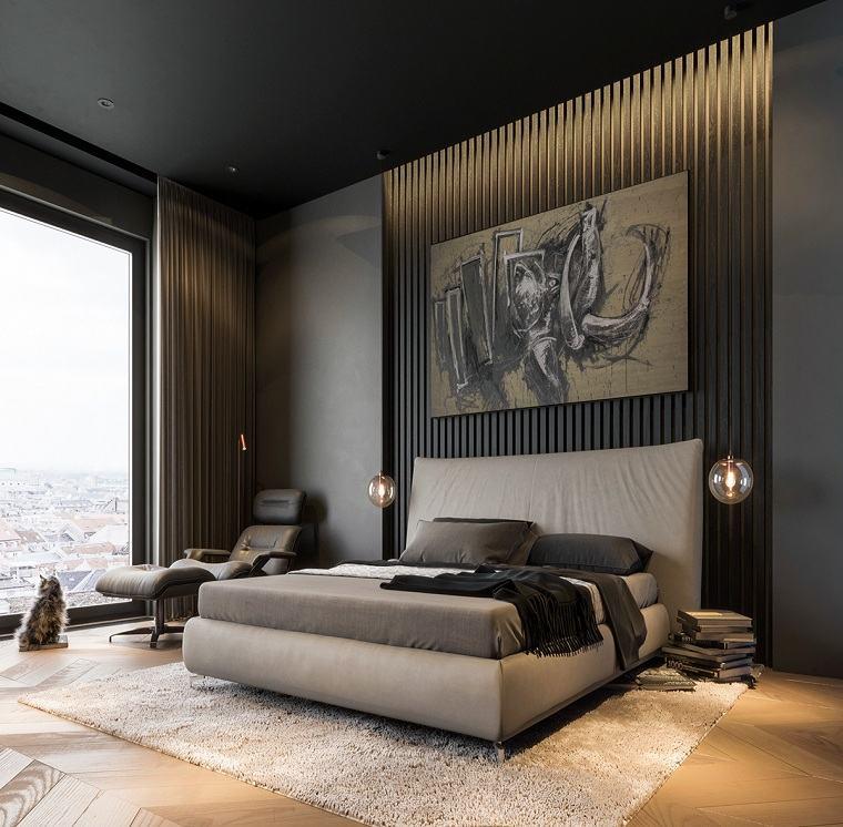 dormitorio-luminoso-diseno-gris-negro