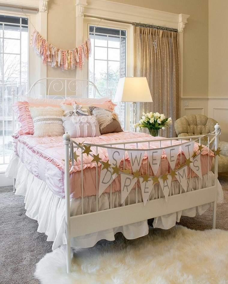 dormitorios-shabby-chic-ideas-cama