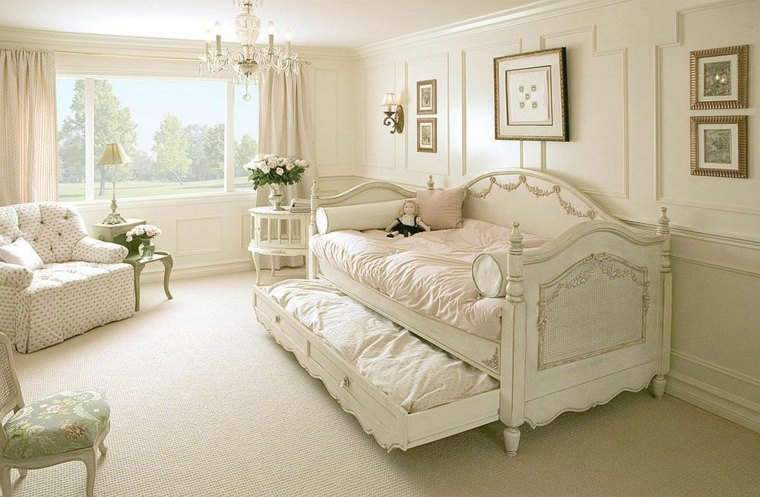Dormitorios shabby chic -ideas-diseno-blanco