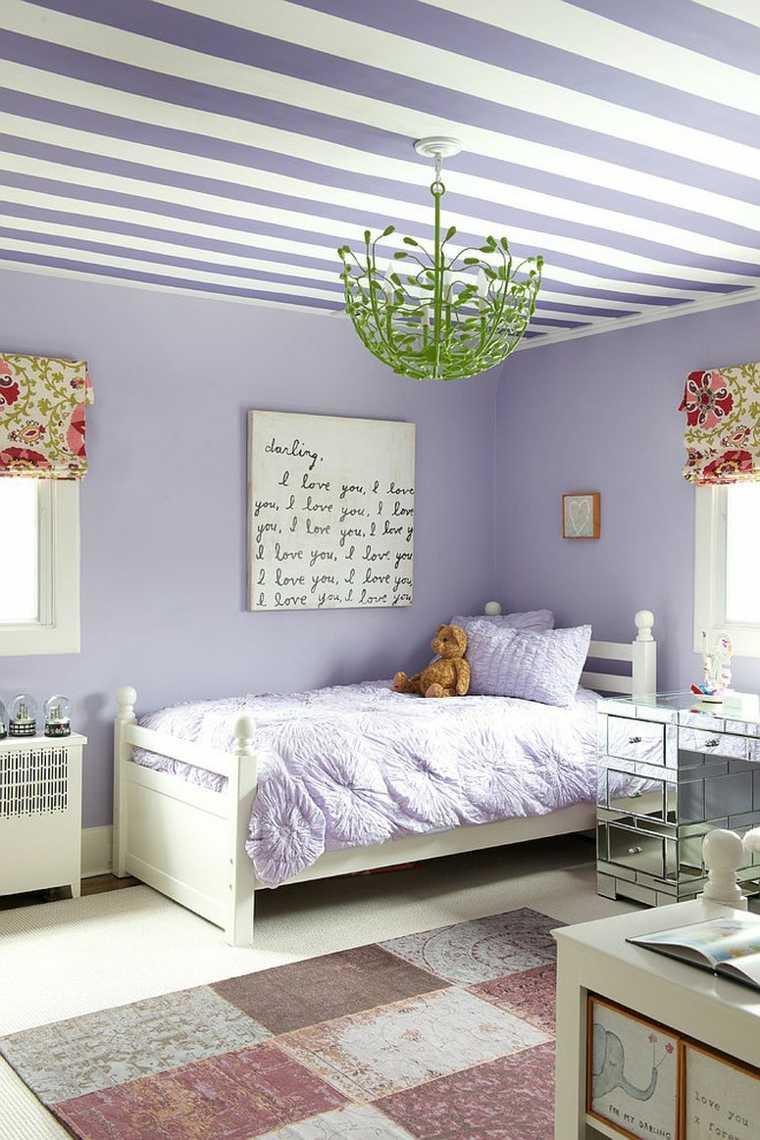 Dormitorios shabby chic ideas-techo