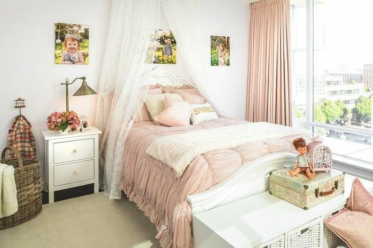 dormitorios-shabby-chic-telas-rosa-claro