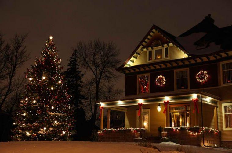 espíritu navideño arbol navidad exterior