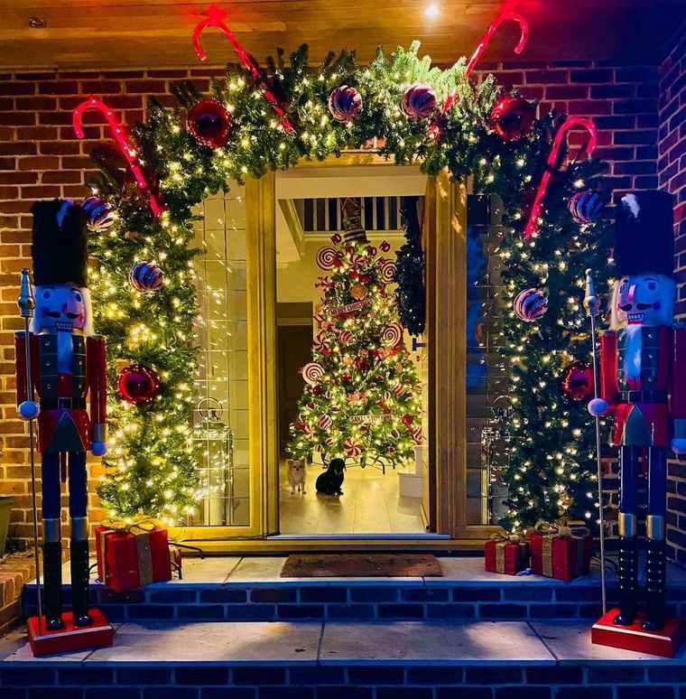 espíritu navideño decoracion bastones caramelo