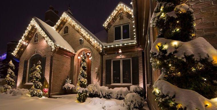 espíritu navideño decoracion casa exterior