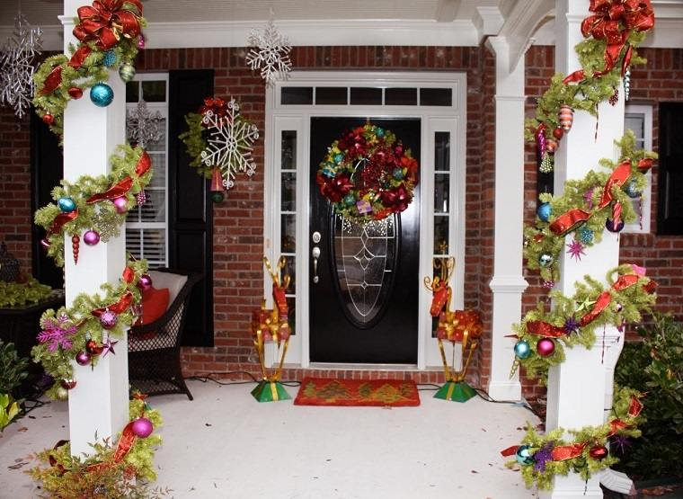 espíritu navideño decoracion columnas