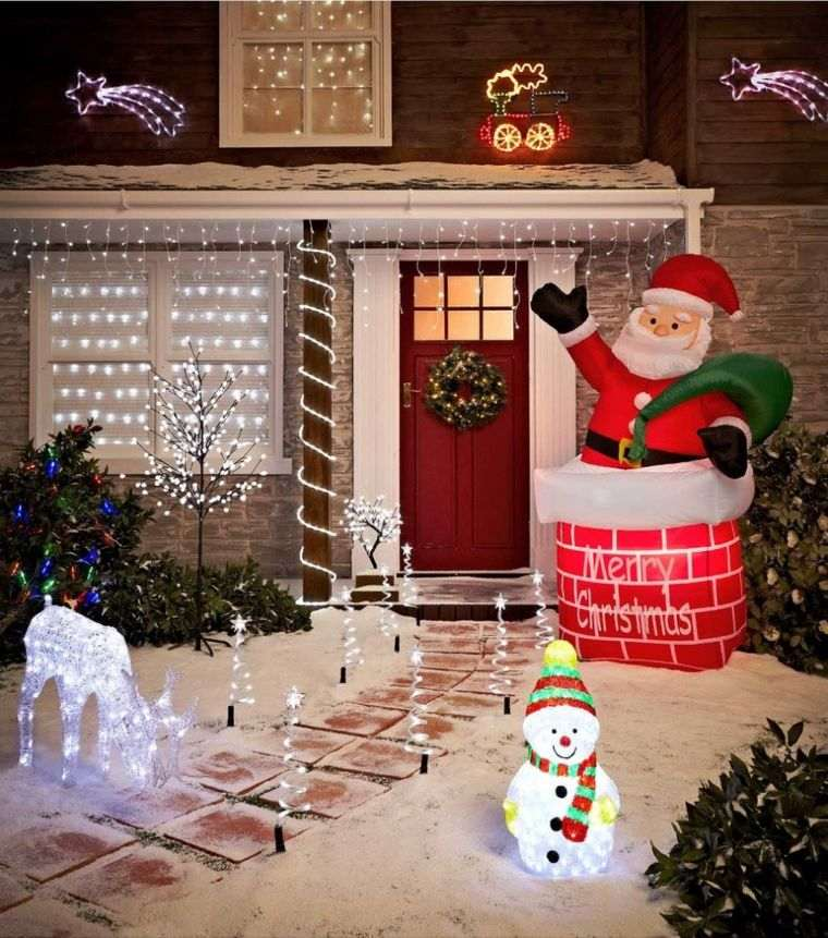 espíritu navideño decoracion con inflables