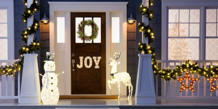 espíritu navideño decoracion exterior clasica