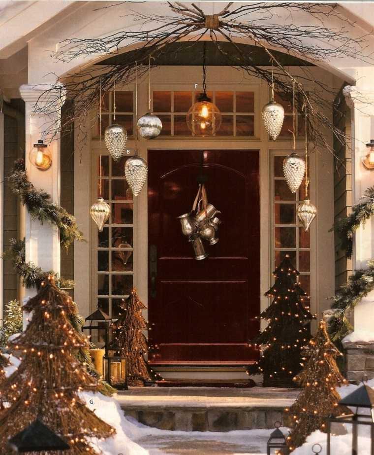 espíritu navideño decoracion exterior rustica