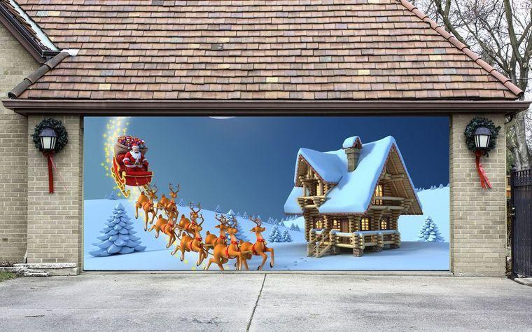 espíritu navideño decoracion garaje