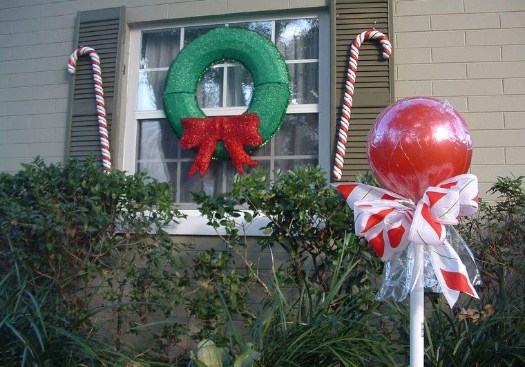espíritu navideño decoracion grandes golosinas