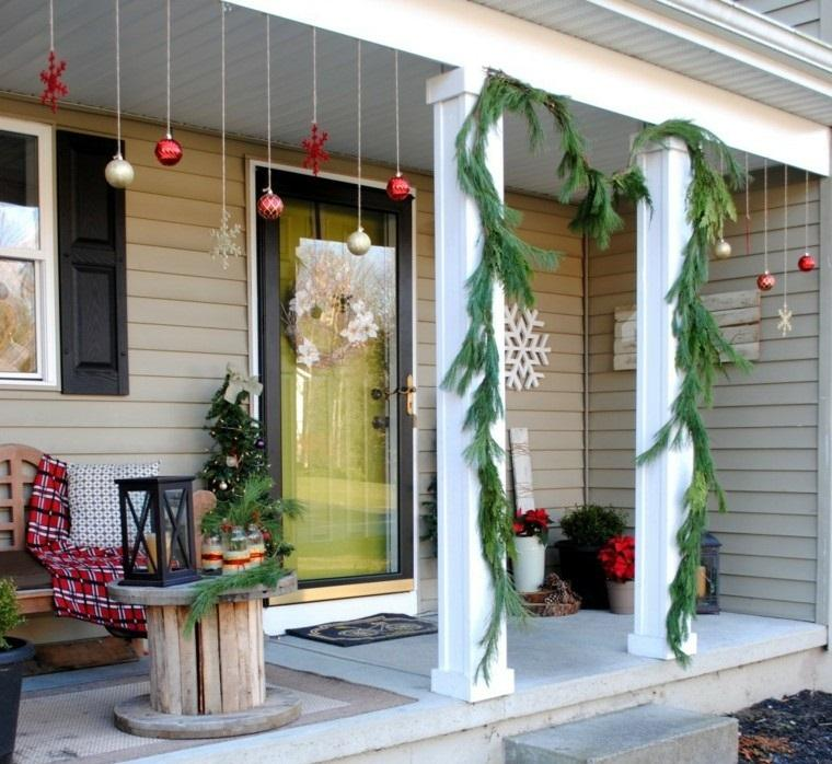 espíritu navideño decoracion porche